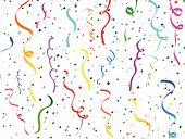 picture of confetti  - Abstract background of falling confetti and streamers - JPG