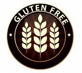 foto of wheat-free  - Gluten free food packaging sign  Can be used as a stamp - JPG