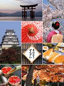 Landmarks and Collage of Japan poster