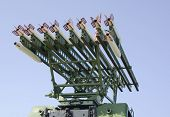 stock photo of emplacements  - Rockets on antiaircraft - JPG