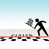 You Win & Get Checkered Flag At Finish Line