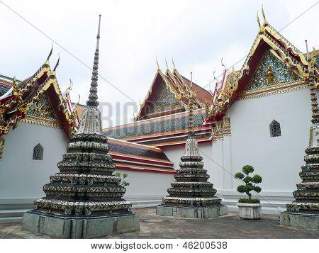 Backyard Of Buddha Temple In Bangkok