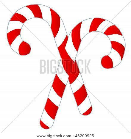 Candy Canes Isolated on White