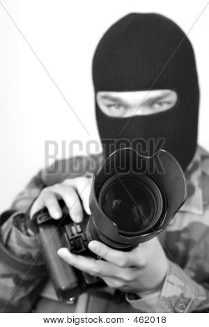 Special Ops Photographer. B&w 2