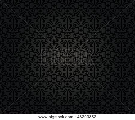 Black Vintage Wallpaper Background Design