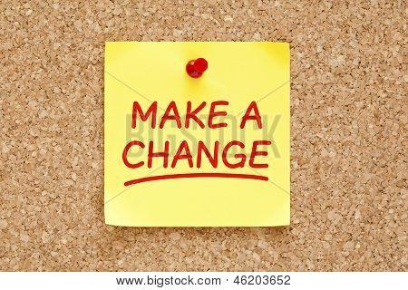 Make A Change Sticky Note