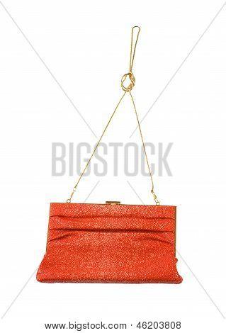 Orange Stingray Leather Clutch