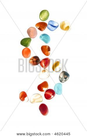 Colorful Stones With Dolar Mark Shape