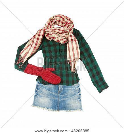 Para ver la moda leñador minifalda