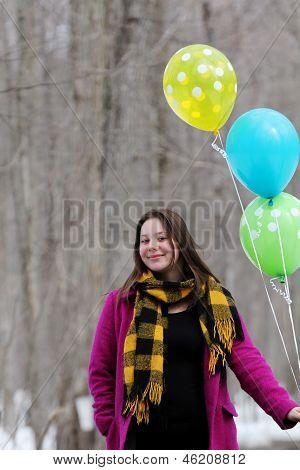 Woman With Balloune