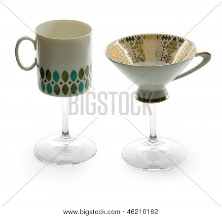 Two Cup Mug Glasses