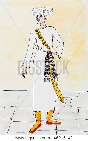 Arab Man In Traditional Dress