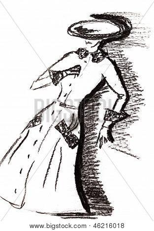 Ladies Demi-season Coat In 30Th Years