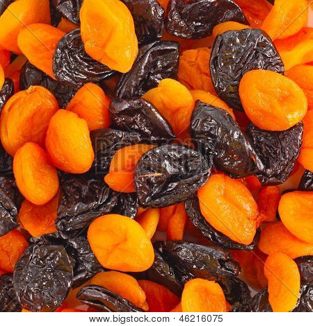 Dried fruits anf nuts background