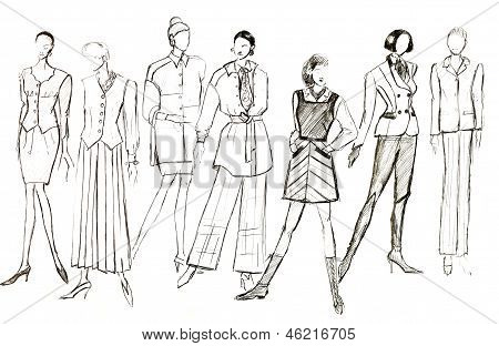 Layouts Of Female Clothes