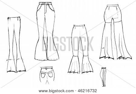 Finishing Details Of Women Flared Trousers