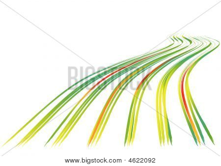 Background With Wavy Lines. Vector.