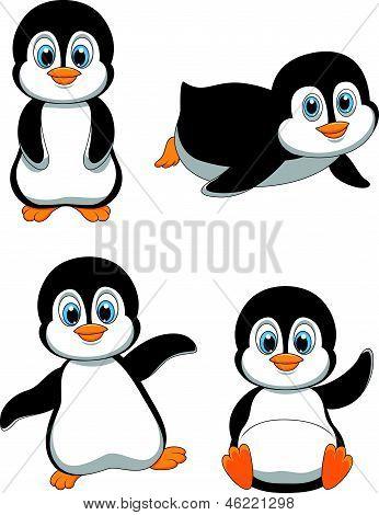 Niedlichen Pinguin cartoon
