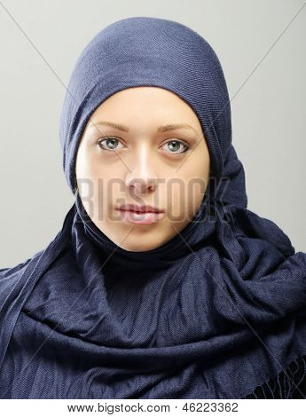 Young Arabic beautiful woman portrait