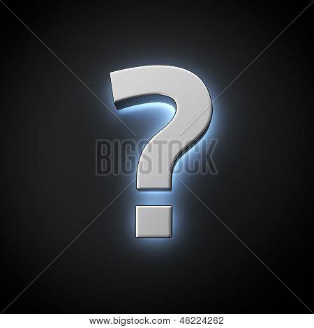 Luminous Question Mark