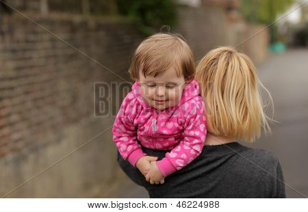 Carrying daughter home