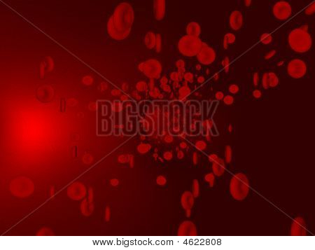 Blood Cells Inside Artery