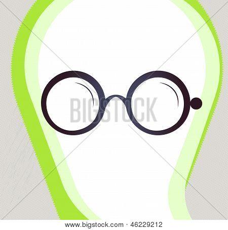 Glasses. Retro-style Emblem, Icon, Pictogram. Eps 10 Vector