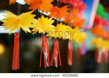 decorative trimming hanging in narita, japan