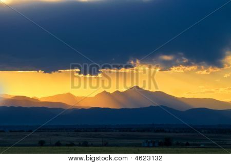 Sunset Over Longs Peak