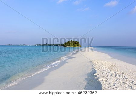 Sandbank In Tropical Island, Maldives