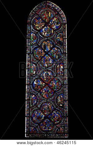 Old Testament Window Of Chartres Cathedral, France