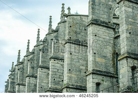 Gothic Buttresses Background