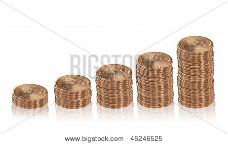 Increasing Columns Of  Coins.