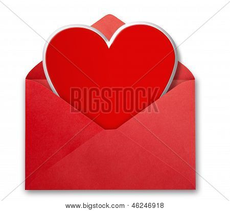 Valentines card isolated.