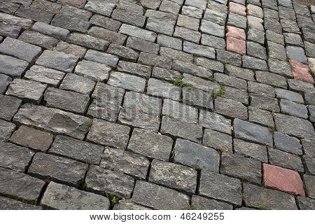 Sett bricks, texture or background, stone pavement