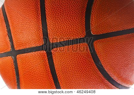 Basketball ball detail leather texture background