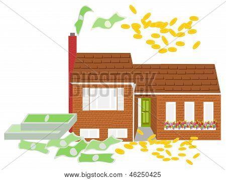 dinero de la casa