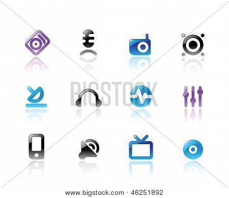 Perfect Icons For Media And Sound