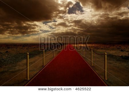 Red Carpet On Desert