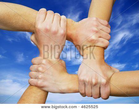 Gekoppelde handen