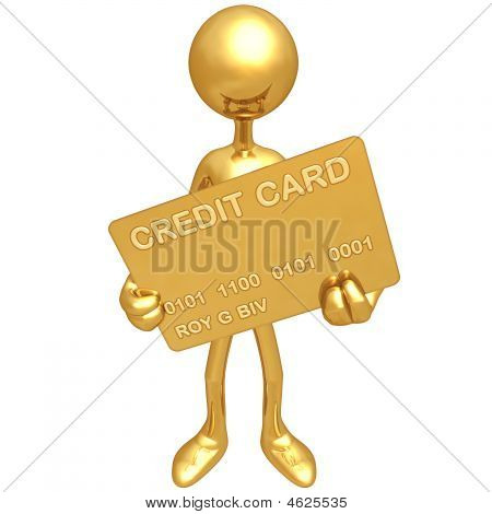 Holding Gold Credit Card