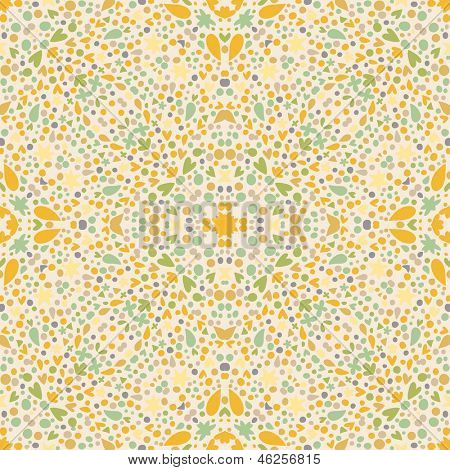 Vintage kaleidoscope background. Seamless pattern can be used for retro wallpaper, pattern fills, web page background, surface textures. Gorgeous seamless retro background in vector