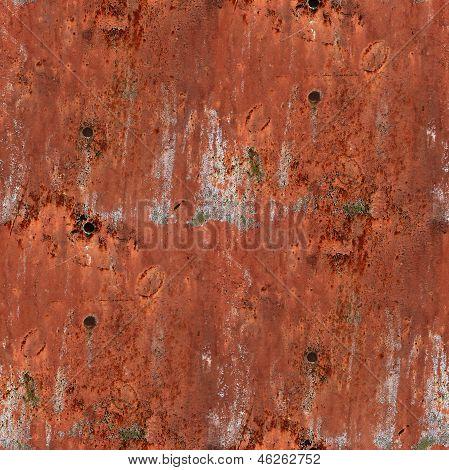 fierro viejo inconsútil de la textura rojo herrumbre y rayado wallpaper centrico