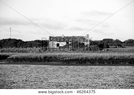 Rustic Cottage On A River Shannon Estuary