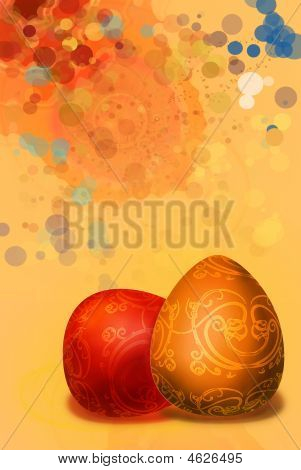 Splashed A Paint Background Easter Background