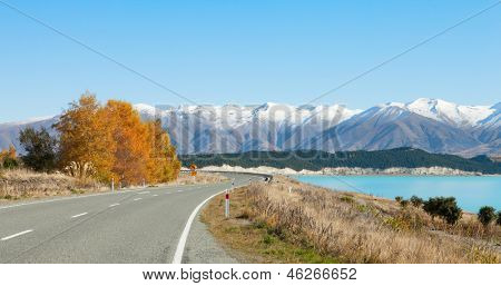Fairlie-Tekapo Road, Canterbury, New Zealand