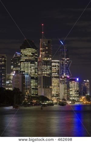 Brisbane By Night Landscape