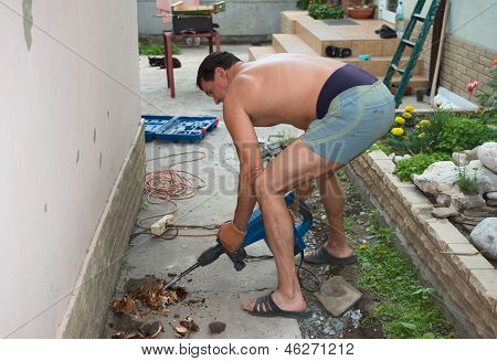 Man With Electric Jackhammer.