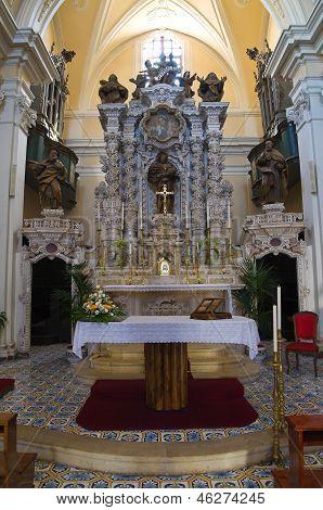 Church of Carmine. Presicce. Puglia. Italy.