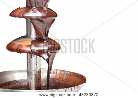 Chocolate Fountain On White Background